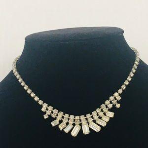 Rhinestone necklace Gatsby 20's choker graduated